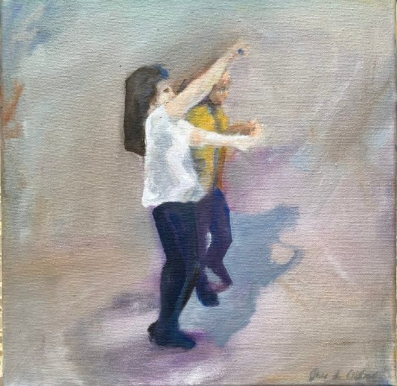 West coast swing dancers / oil painting