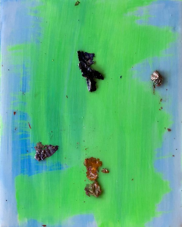 Compass Paint forms. Abstract contemporary mixed media oil painting
