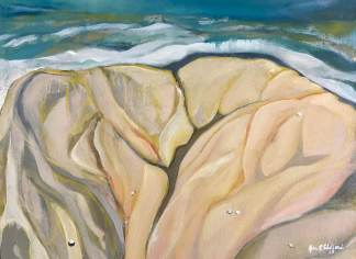 Saltwater Veins IX, Oil on Canvas, Jodee Clifford