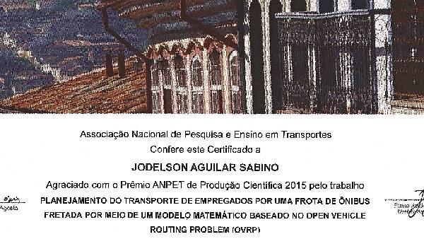 Certificado Prêmio ANPET 2015