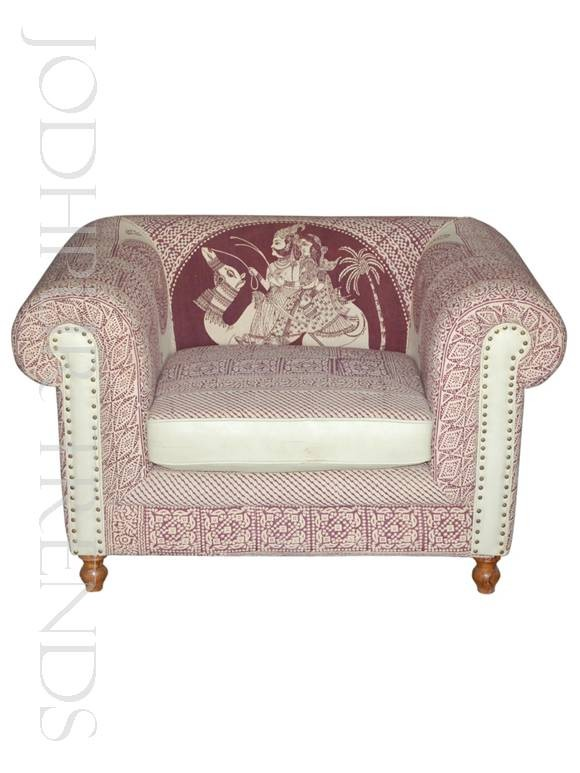 Bespoke Printed Scroll Sofa | Commercial Dining Room Furniture