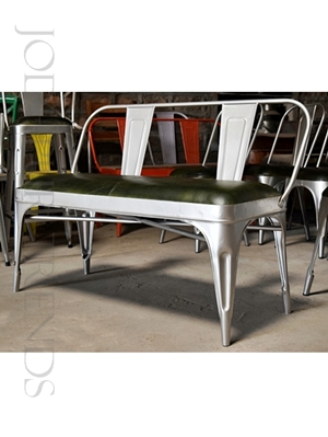 Tolix Leather Bench | Pub And Bar Furniture