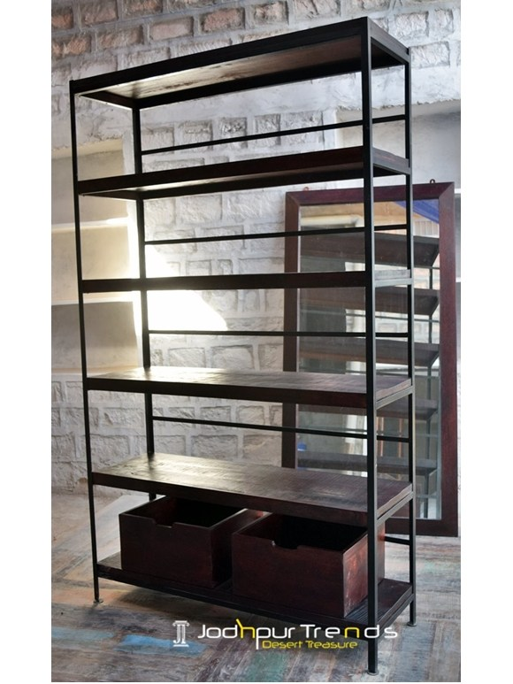 Bookcase in Mango Wood | Hotel Furniture Suppliers
