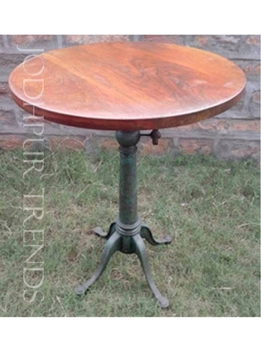 Round Cast Iron Bar Table | Round Cafe Tables