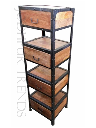 Tall Storage Chest | Vintage Bathroom Furniture