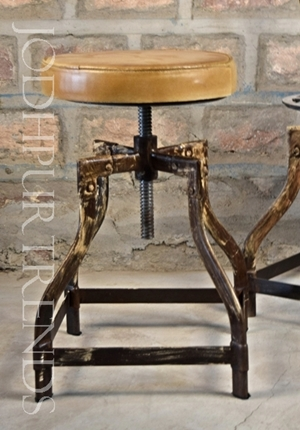 Antique Bar Stool | Cast Iron Furniture