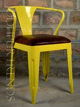 Leather Dining Chair in Yellow | Buy Hospitality Chairs