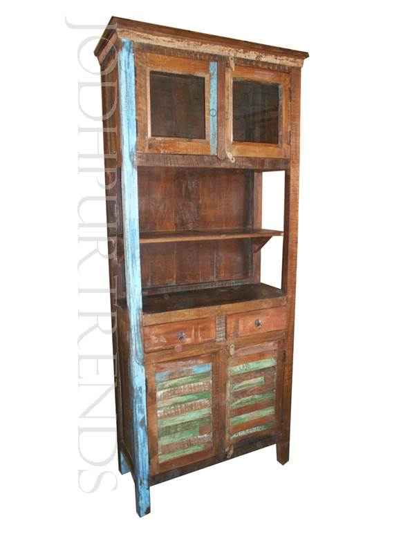 Hutch Cabinet in Reclaimed Wood | Indian Reclaimed Furniture Manufacturers