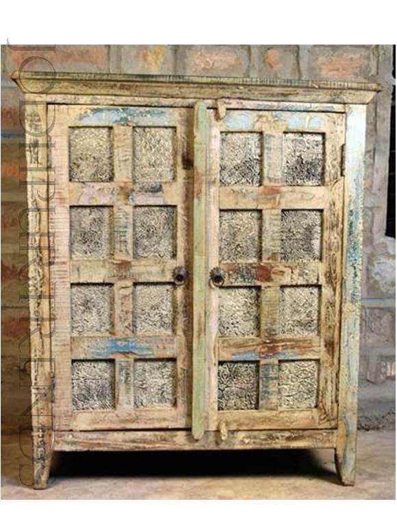 Vintage Indian Cabinet | Indian Hand Carved Furniture