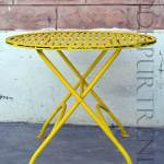 Cafe Table in Yellow | Dining Furniture Manufacturers