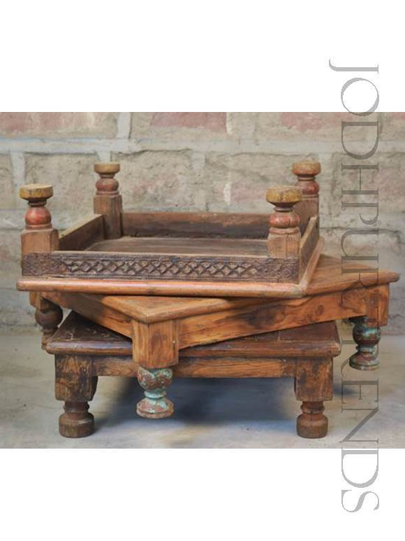 Antique Bajot Floor Seats | Indian Ethnic Furniture