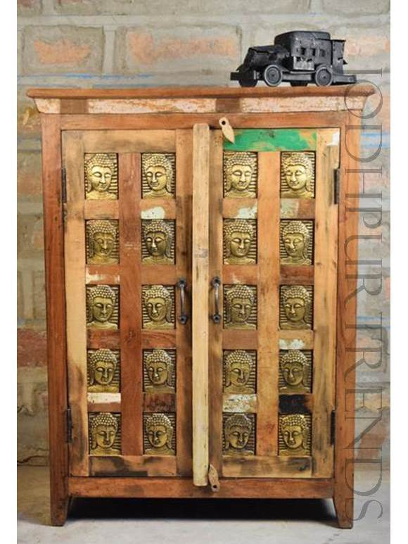 Old Wood Mix Cabinet | Indian Reclaimed Furniture