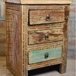 Alluring Carved Bedside Table | Furniture Vintage