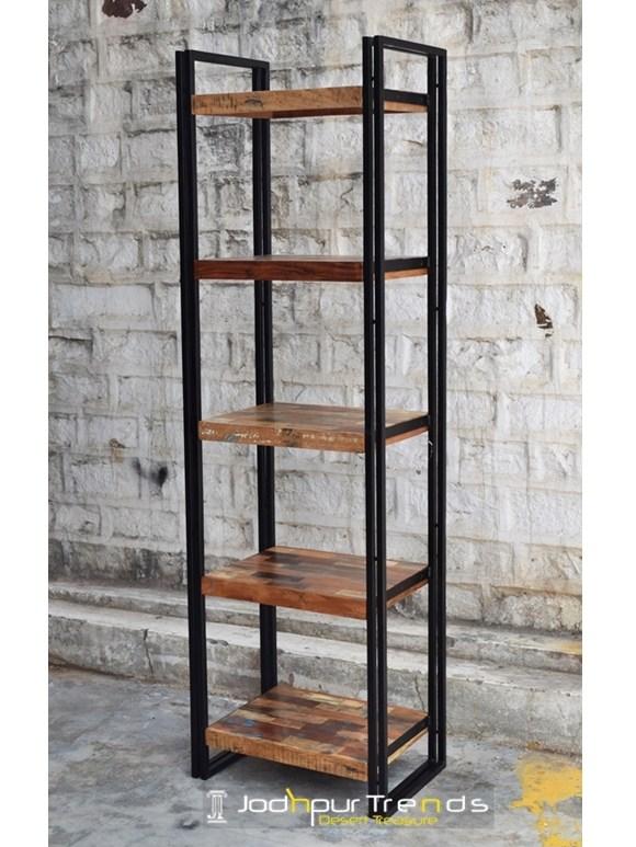 Industrial Etagere Bookcase | Jodhpur Handicraft Furniture