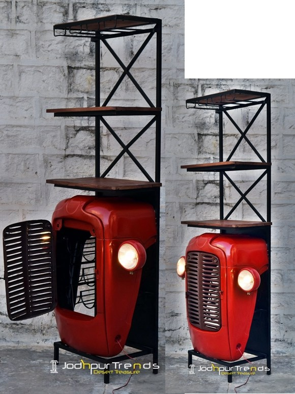 tractor wine cabinet , tuktuk wine cabinet, Automobile Furniture )