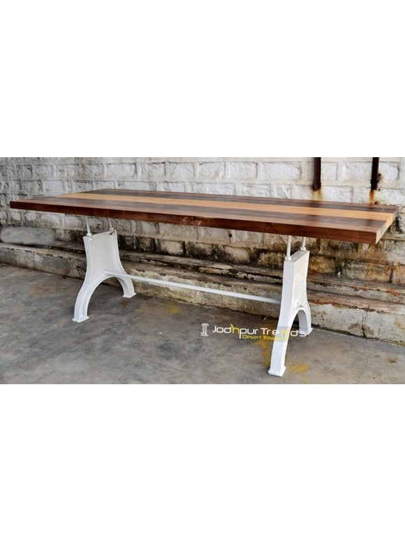 Vintage Dining Table | Industrial Cafeteria Table