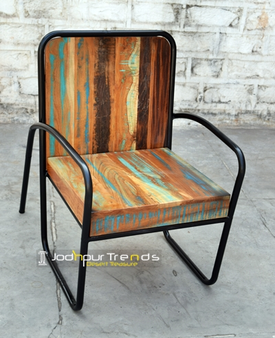 Cafe Chair in Reclaimed Wood | Cafe Furniture India