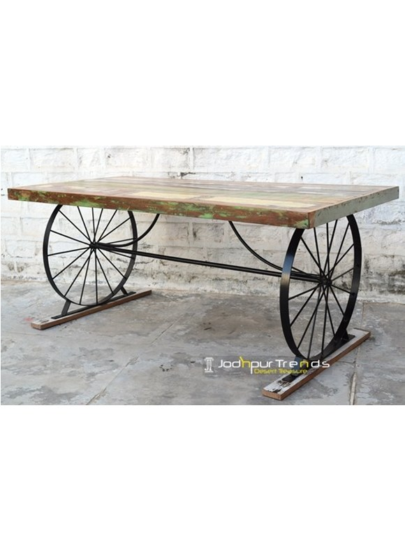Designer Table with Wheel Base   Cafe Tables Wholesale