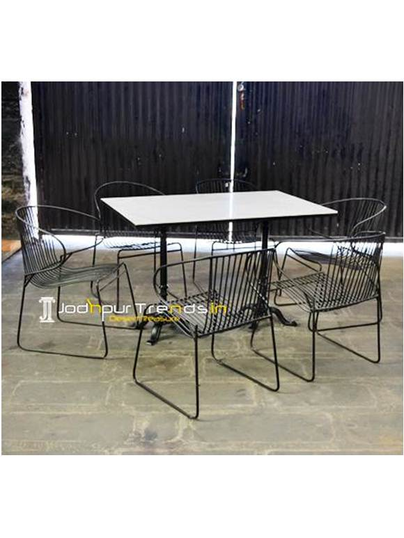 Marble Table Set Commercial Food Court Furniture