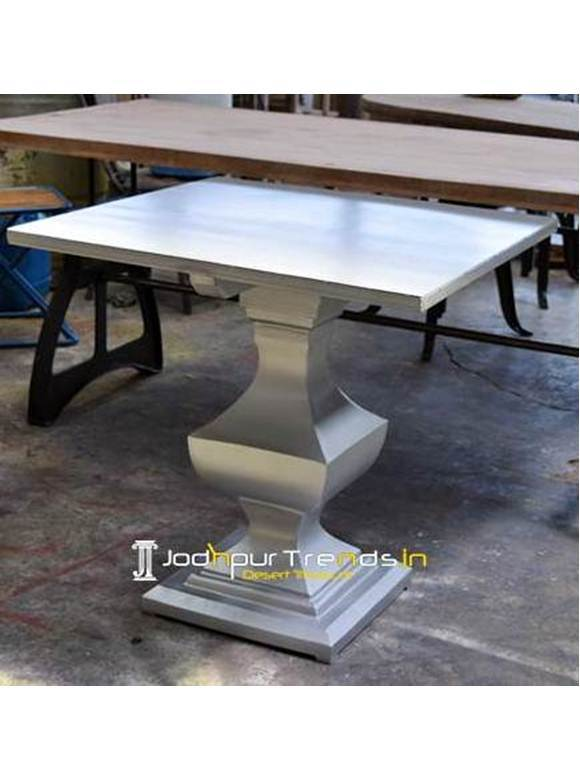 Modern Restaurant Center Dining Table Metal Hotel Restaurant Table