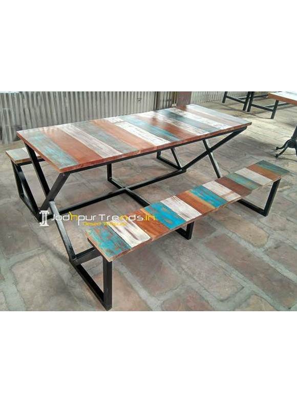 Outdoor Garden Furniture Table Bench Set Hotel Garden Furniture