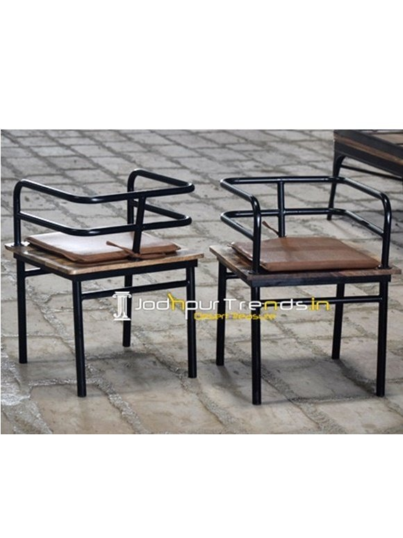 Pipe Wooden Chair | Canteen Furniture