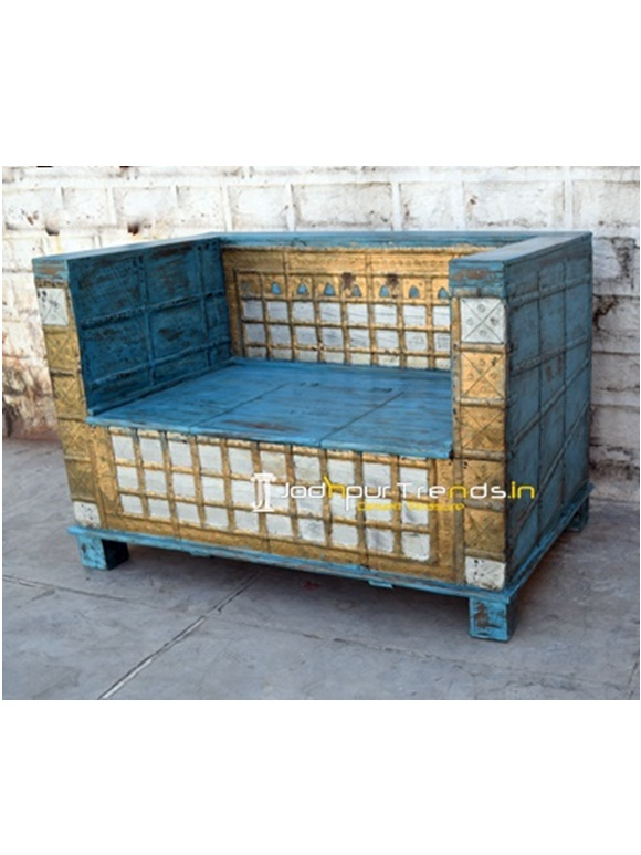 Antique Storage Sofa Bench Hotel Bedroom Furniture