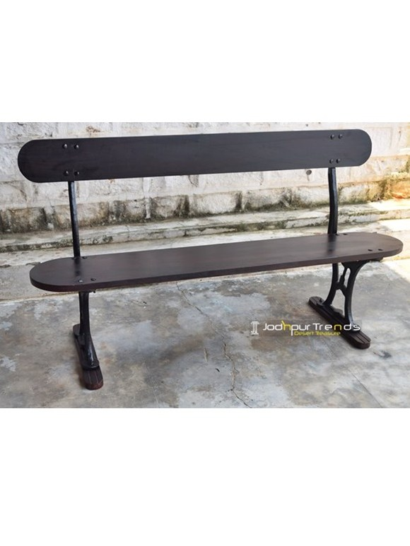 Cast Iron Garden Bench Farmhouse Furniture