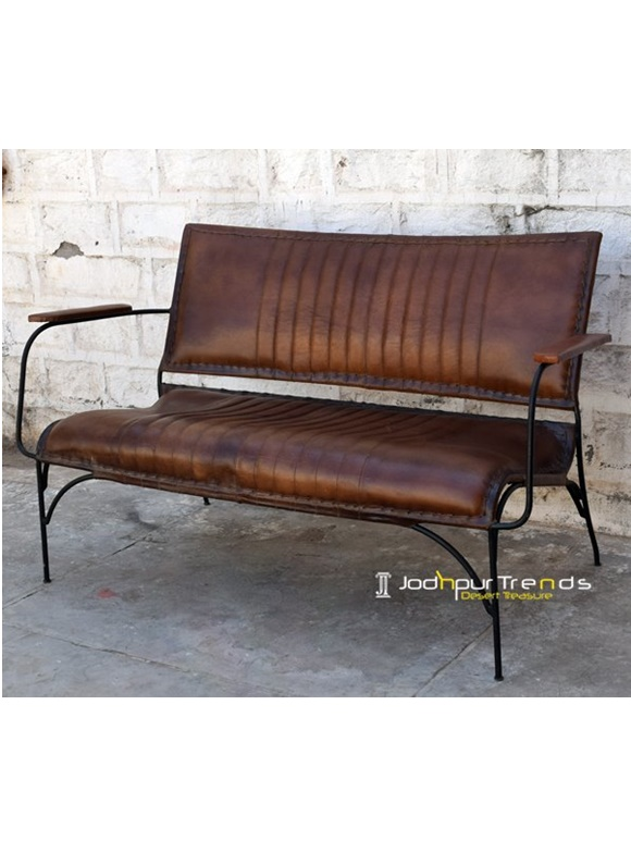 Genuine Leather Industrial Bench