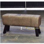 Hand Crafted Canvas Leather Zym Stool