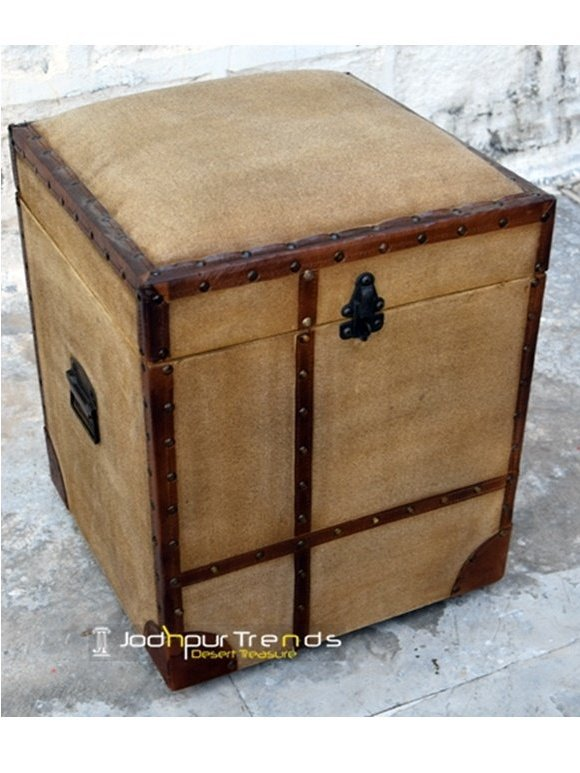 Hotel Room Small Space Bedroom Storage Footstool Box