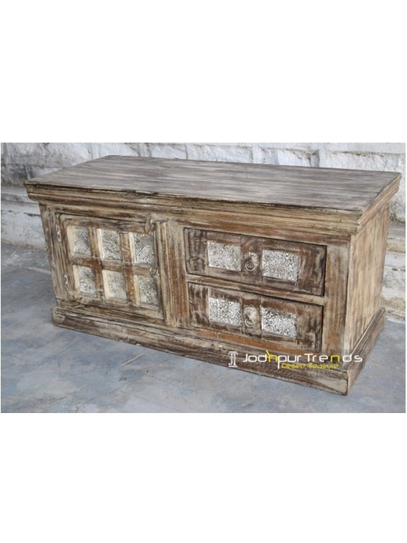 Old Wood Trunk Distressed Furniture