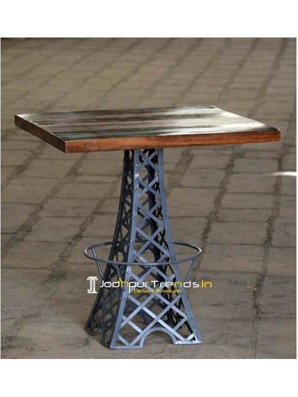 Square Dining Table Iron Wooden Dining Table
