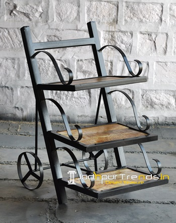 Wrought Iron Bedside Vintage Industrial Furniture Exporter