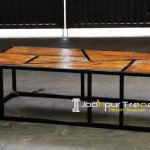 MS Iron Solid Wood Center Table Furniture
