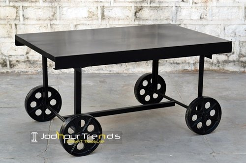 Heavy Duty Metal Cast Iron Counter Center Table Furniture