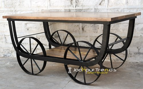 Wholesale Furniture Wheel Center Table Design