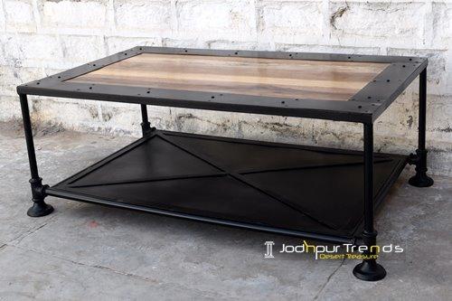 Factory Inspire Metal Industrial Coffee Table Design Jodhpur Trends