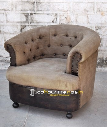 Indian Handcrafted Modern Canvas Sofa