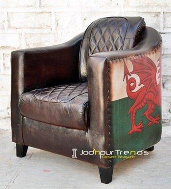 Dragon Printed Canvas Manufacturer Sofa