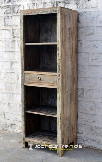 Antique Old Wood Distress Finish Storage Rack