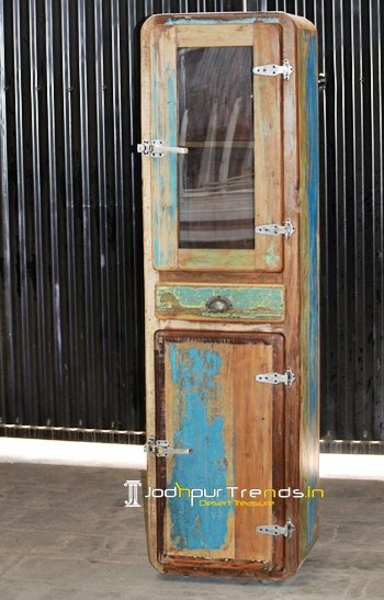 Glass Door Jodhpur Handicraft Design Storage Rack