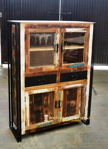Indian Reclaimed Wood Display Unit Furniture