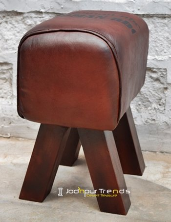 Leather Designer Handcrafted Foot Stool Furniture