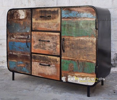 Interior Choice Shabby Chic Metal Sideboard