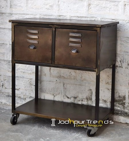 Urban Metal Industrial Console Table Furniture