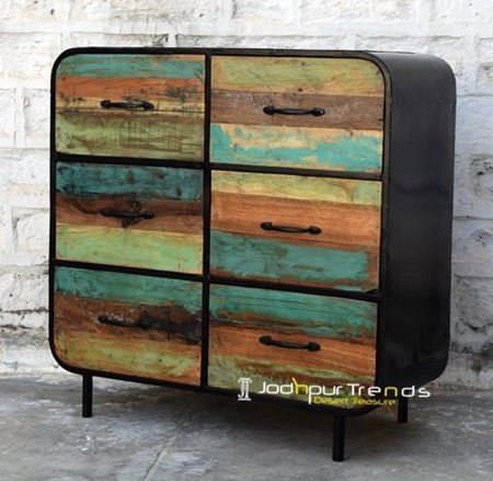 Vintage Design Iron Metal Cabinet Furniture