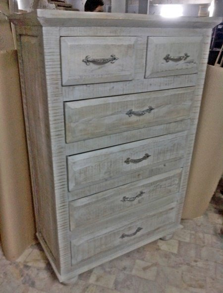 White Distress Hospitality Cabinet Furniture