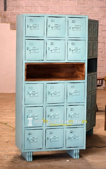Distress Metal Commercial Use Cabinet