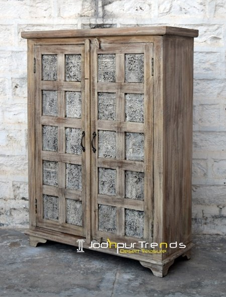 Block Printed Distress Cabinet Furniture